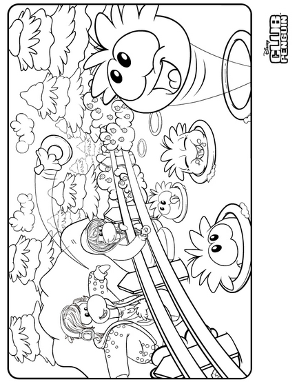 new coloring page club penguin cheats